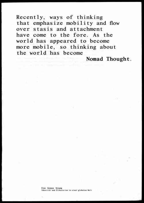 NOMAD THOUGHT